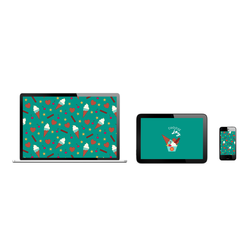 The Unicorn Factory Choose Joy Ice Cream Device Background Wallpapers