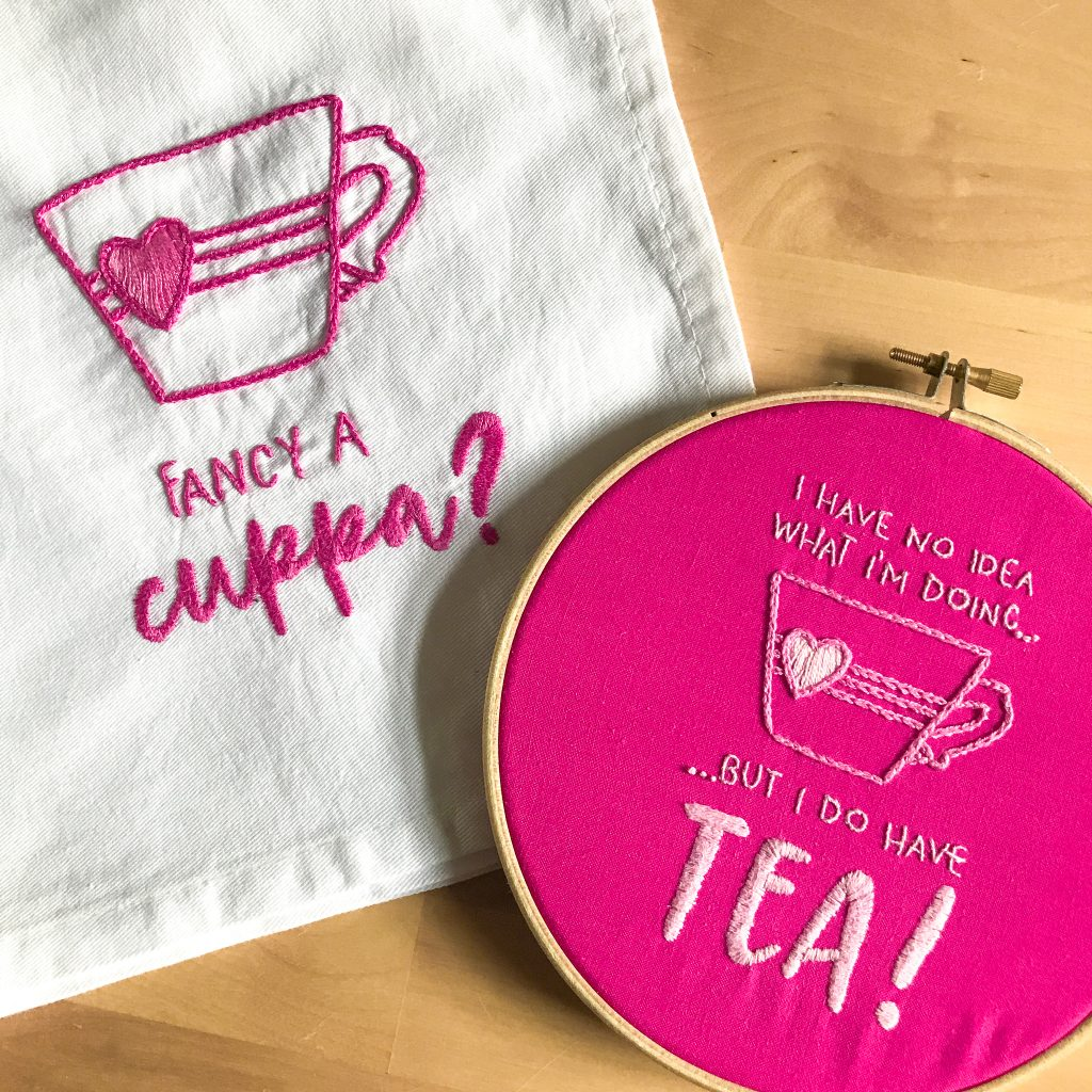 The Unicorn Factory Fancy a Cuppa Embroidery Pattern Design